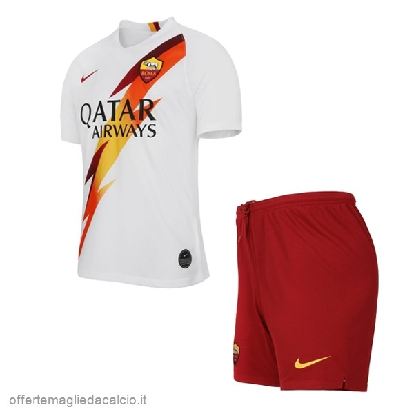 Calcio Shop Online Nike Away Set Completo Bambino AS Roma 2019 2020 Bianco