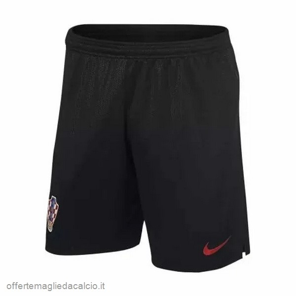 Calcio Shop Online Nike Away Pantaloncini Croazia 2018 Nero