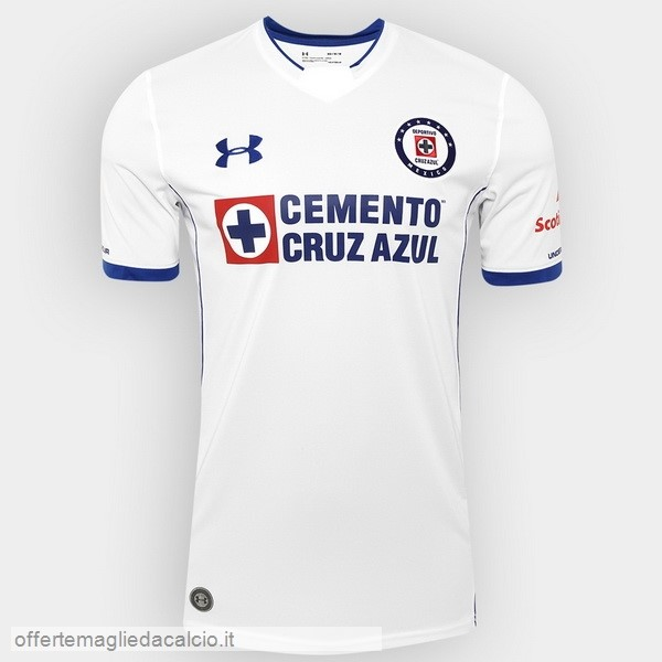 Calcio Shop Online Under Armour Away Maglia Cruz Azul 17-18 Bianco