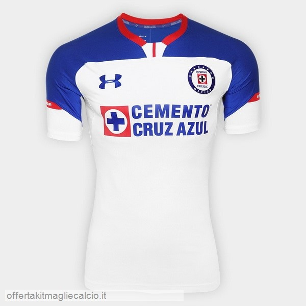 Calcio Shop Online Under Armour Away Maglia Cruz Azul 18-19 Bianco