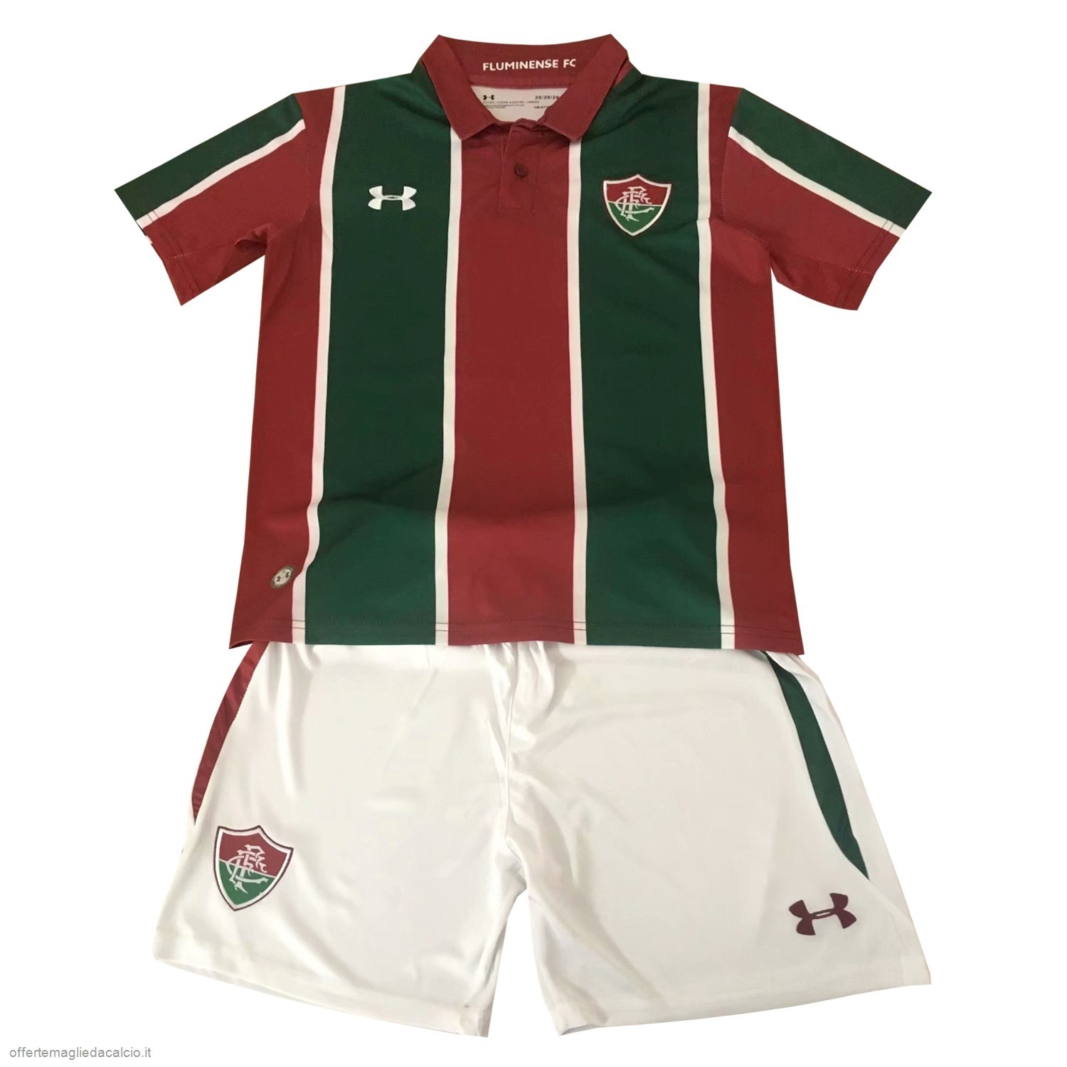 Calcio Shop Online Under Armour Home Set Completo Bambino Fluminense 2019 2020 Rosso Verde