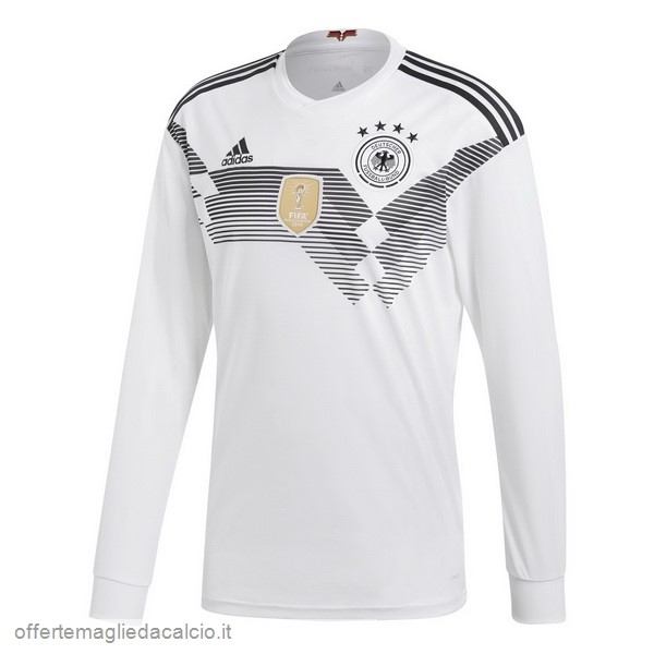 Calcio Shop Online adidas Home Manica Lunga Germania 2018 Bianco