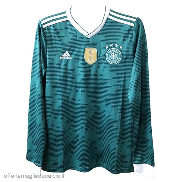 Calcio Shop Online adidas Away Manica Lunga Germania 2018 Verde