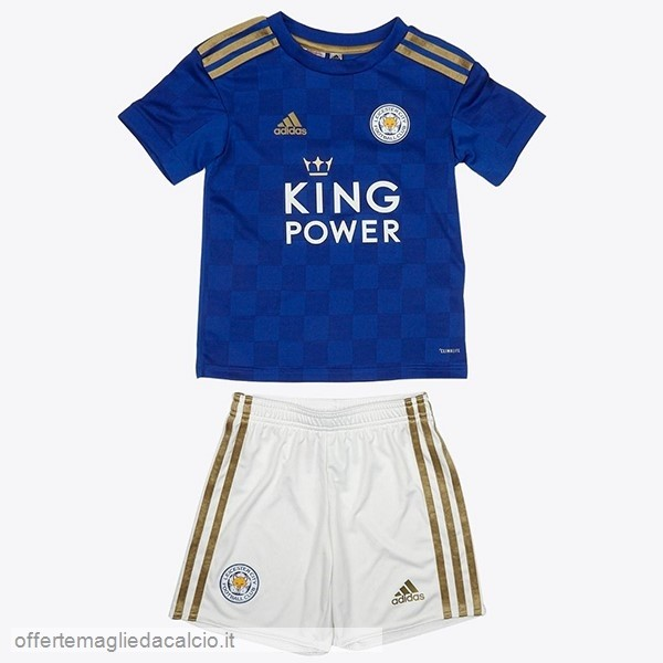 Calcio Shop Online Adidas Home Set Completo Bambino Leicester City 2019 2020 Blu