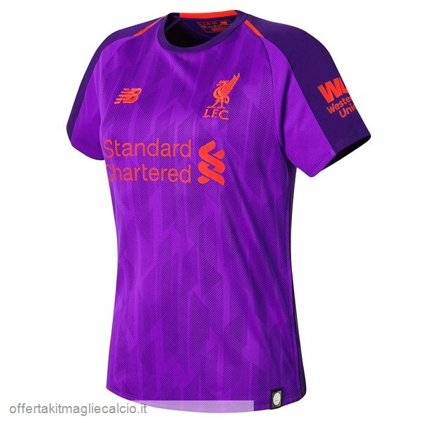 Calcio Shop Online New Balance Away Maglia Donna Liverpool 18-19 Porpora