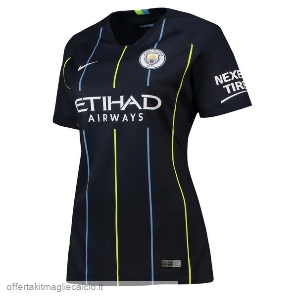 Calcio Shop Online Nike Away Maglia Donna Manchester City 18-19 Blu