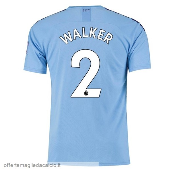 Calcio Shop Online PUMA NO.2 Walker Home Maglia Manchester City 2019 2020 Blu