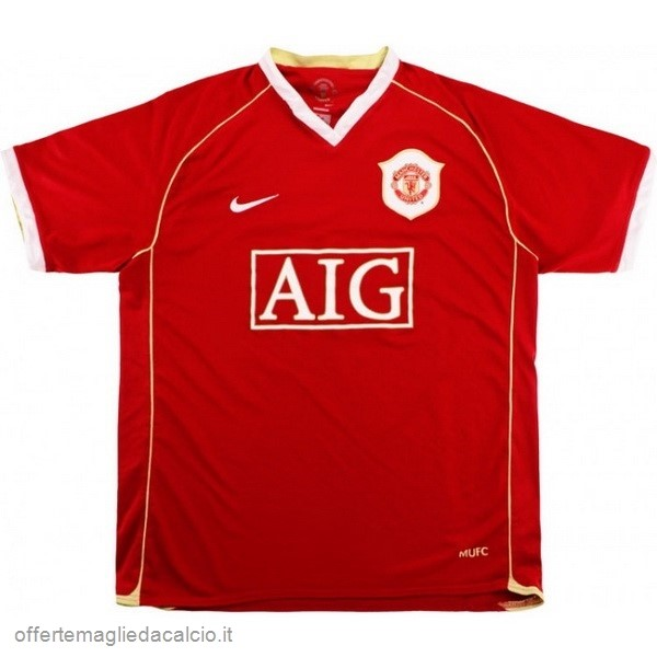 Calcio Shop Online Nike Home Maglia Manchester United Vintage 2006 2007 Rosso