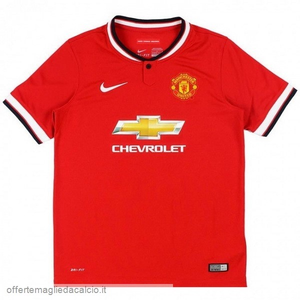 Calcio Shop Online Nike Home Maglia Manchester United Vintage 2014 2015 Rosso
