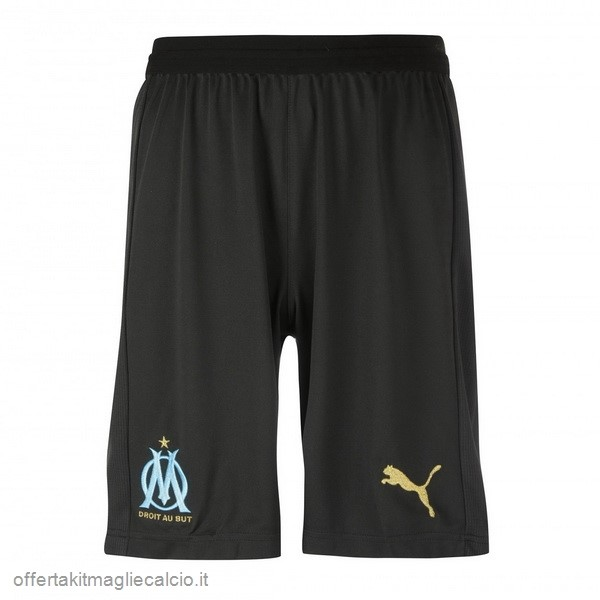 Calcio Shop Online PUMA Away Pantaloncini Marseille 18-19 Nero