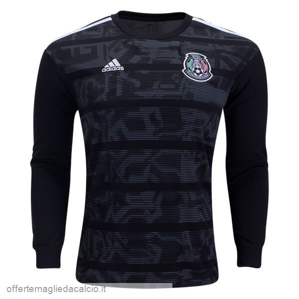 Calcio Shop Online Adidas Home Manica lunga Messico 2019 Nero