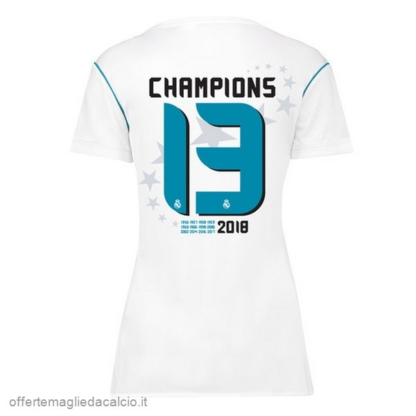 Calcio Shop Online adidas Champions 13 Home Maglia Donna Real Madrid 17-18 Bianco