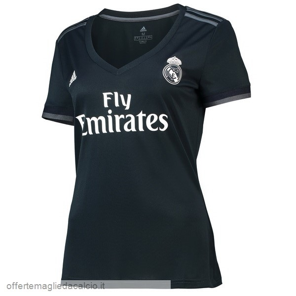 Calcio Shop Online adidas Away Maglia Donna Real Madrid 18-19 Nero