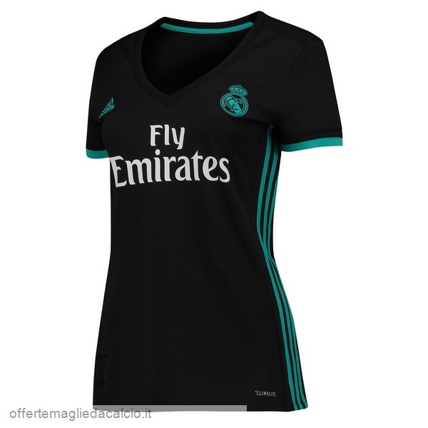 Calcio Shop Online adidas Away Maglia Donna Real Madrid 17-18 Nero