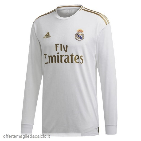 Calcio Shop Online Adidas Home Manica lunga Real Madrid 2019 2020 Bianco