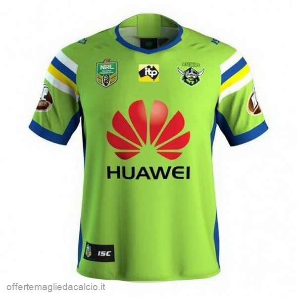 Calcio Shop Online ISC Home Rugby Maglia Canberra Raiders 2018 Verde