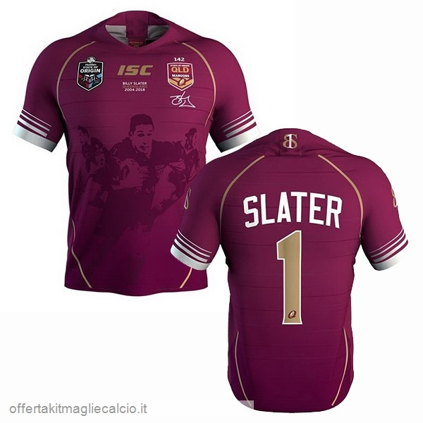Calcio Shop Online Isc No.2 Slater Rugby Maglia Qld Maroons 2018 Rosso