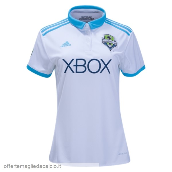 Calcio Shop Online adidas Home Maglia Donna Seattle Sounders 17-18 Bianco