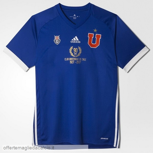 Calcio Shop Online adidas Home 90th Maglia Universidad De Chile 1927 2017 Blu