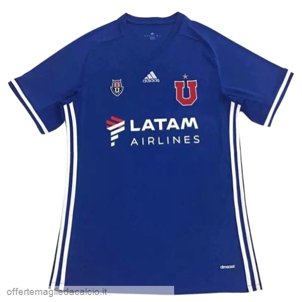 Calcio Shop Online adidas Home LATAM Maglia Universidad De Chile 17-18 Blu