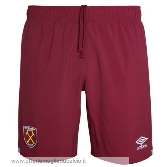 Calcio Shop Online Umbro Home Pantaloni West Ham United 2019 2020 Rosso