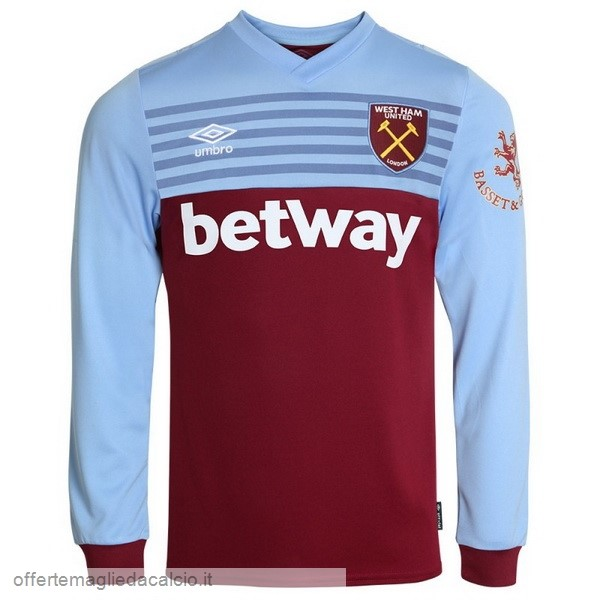 Calcio Shop Online umbro Home Manica lunga West Ham United 2019 2020 Blu Rosso